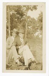 Photograph of Waldo C. Falkener, Sr. and George Mitchell, Jr., Esq.