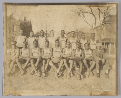 Photograph of the 1929 Tuskegee Institute men's basketball team