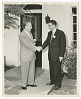 Thumbnail for Photograph of Gilbert E. DeLorme. Sr., shaking hands with an unidentified man