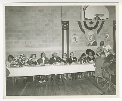 Photograph of Fred Toomer at an Atlanta Life Insurance Company reception