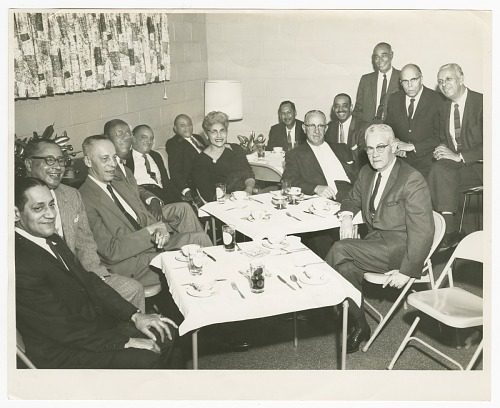 Image for Photograph of Gilbert DeLorme, Sr. and poker group
