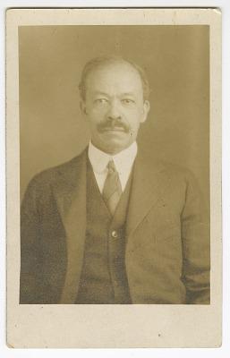 Photographic postcard of Senator Henry Hall Falkener