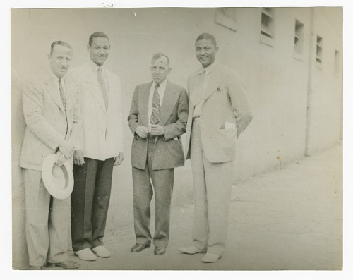 Image for Photograph of four employees outside Atlanta Life