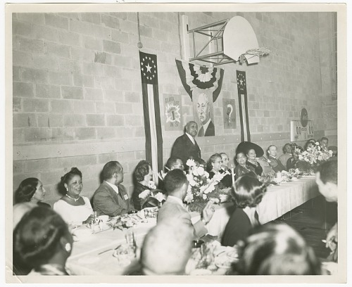 Image for Photograph of a man speaking at an Atlanta Life Insurance Company reception