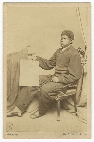 Image for Carte-de-visite of Thomas Wiggins, also known as Blind Tom