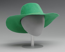 Green hat worn by Alicia Keys on the album cover of Songs in A Minor