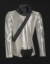 Silver shirt worn by Michael Jackson during the 1987 Bad World Tour
