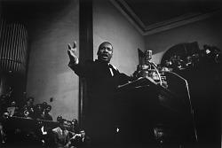 Dr. Martin Luther King, Jr., Addressing a Rally, Sixteenth Street Baptist Church