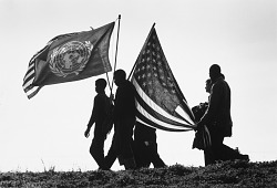 Flag-Bearing Marchers, Selma to Montgomery March