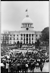 Marchers Approaching the Alabama State Capitol