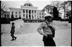 Military Police and State Troopers Guarding the Alabama State Capitol