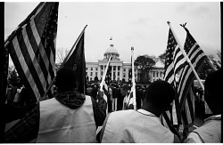 Marchers Assembled in Front of the Alabama State Capitol