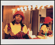 Photograph of MC Lyte in her dressing room