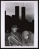 Thumbnail for Photograph of Mista Lawnge and Dres of Black Sheep in front of WTC towers