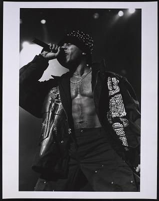 Photograph of LL Cool J at the Beacon Theater in NYC
