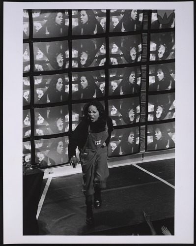 Image for Photograph of MC Lyte performing in the