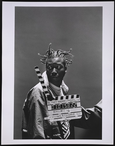 Image for Photograph of Ol' Dirty Bastard on the set of the