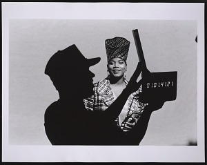 """images for Photograph of Queen Latifah on the set of """"Fly Girl"""" video shoot-thumbnail 1"""