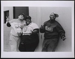 Photograph of The Fat Boys in NYC