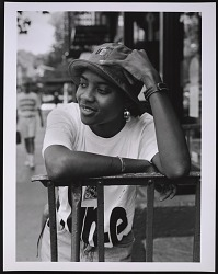 Photograph of MC Lyte on Manhattan's Lower East Side