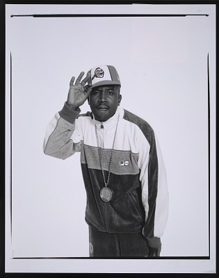 Photograph of Big Boi of Outkast at a Spin magazine photo shoot