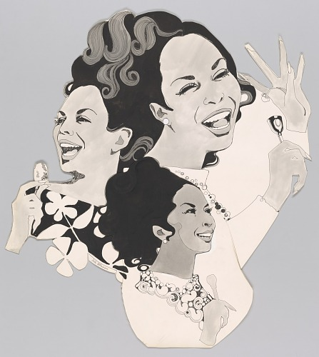 Image for Artwork featuring illustrated portraits of Della Reese
