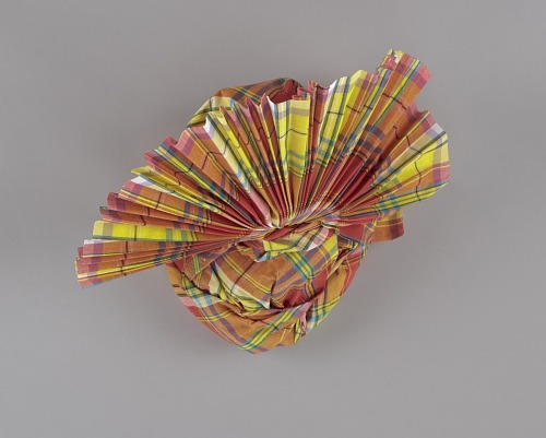 Image for Red, yellow, blue, and white Madras headdress