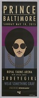 Poster from the Prince Rally 4 Peace concert in Baltimore
