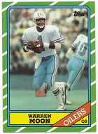 Image for Football trading card for Warren Moon