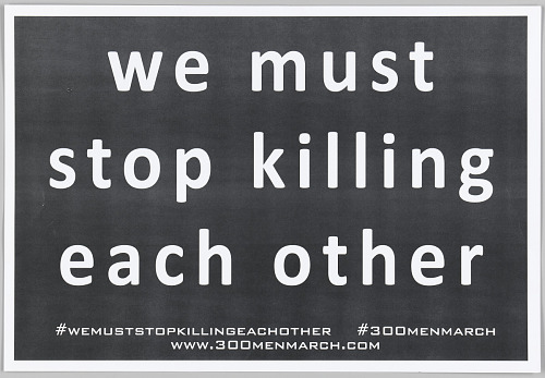 Image for Placard for the 300 Men March