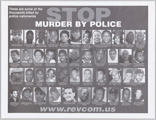 Image for Posters with STOP MURDER BY POLICE message