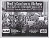 Thumbnail for Fliers for a march in memory of Mike Brown in Washington, DC