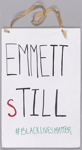 Image for Placard worn during the Millions March NYC protest on December 13, 2014