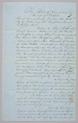 Deed of sale for an enslaved man named Cane