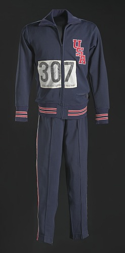 Image for 1968 Olympic warm up suit pants worn by Tommie Smith
