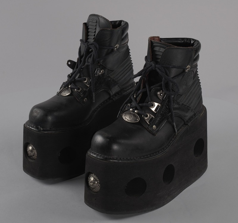 Image 1 for Black platform ankle boots worn by Bootsy Collins