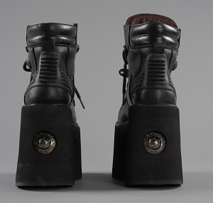 images for Black platform ankle boots worn by Bootsy Collins-thumbnail 4