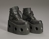 thumbnail for Image 8 - Black platform ankle boots worn by Bootsy Collins