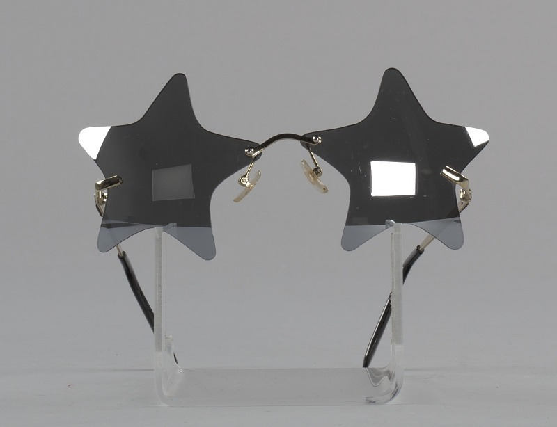 Image 1 for Bootsy Collins style star-shaped mirrored lens sunglasses