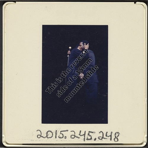 Image for Color slide of Poitier and Belafonte at a fundraiser at Boston Garden
