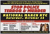 Thumbnail for Postcard for the National March to Stop Police Terror