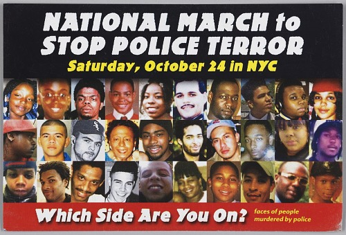 Image for Postcard for the National March to Stop Police Terror