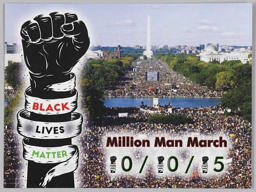Image for Postcard advertising the Milion Man March 20th Anniversary