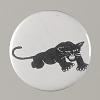 Thumbnail for Pinback button with a black panther on it, from the MMM 20th Anniversary