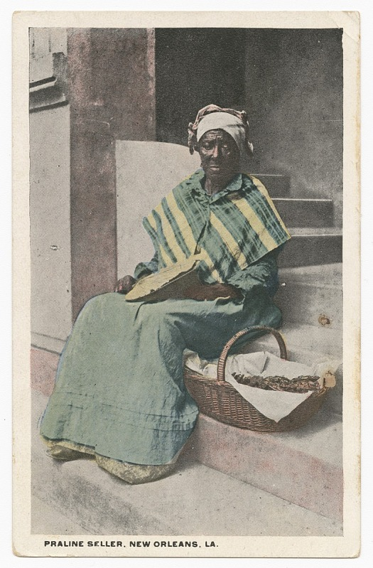 Image 1 for Postcard of a praline seller