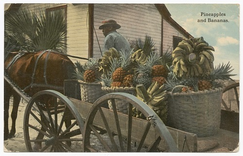 Image for Postcard of a banana and pineapple vendor