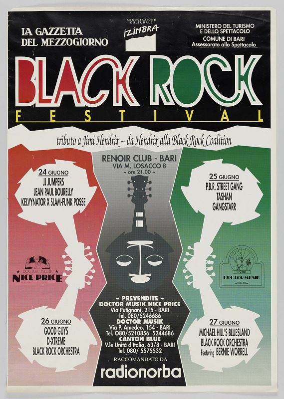Image 1 for Poster for a Black Rock festival in Italy