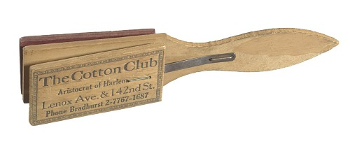 Image for Wooden clapper from the Cotton Club promoting Ethel Waters