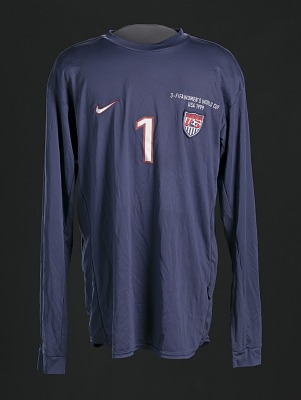 Jersey for the Women's Soccer World Cup worn by Briana Scurry