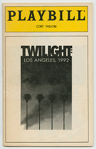 Image for Playbill for Twilight: Los Angeles, 1992